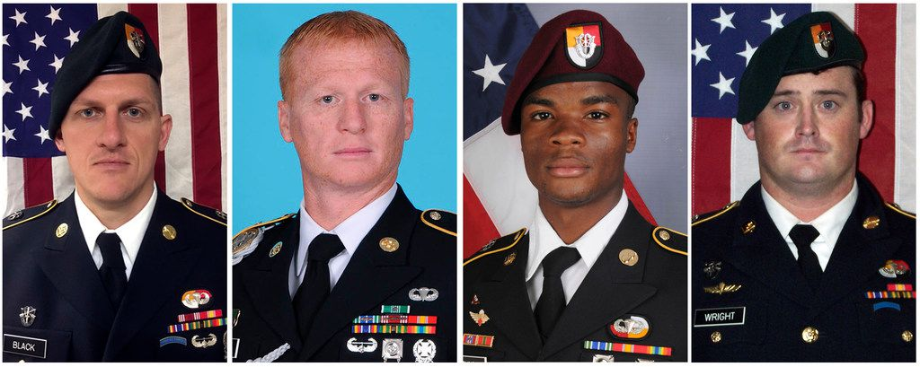 From left: Staff Sgt. Bryan C. Black, Staff Sgt. Jeremiah Johnson, Sgt. La David Johnson and Staff Sgt. Dustin Wright were killed in an ambush in Niger this month.