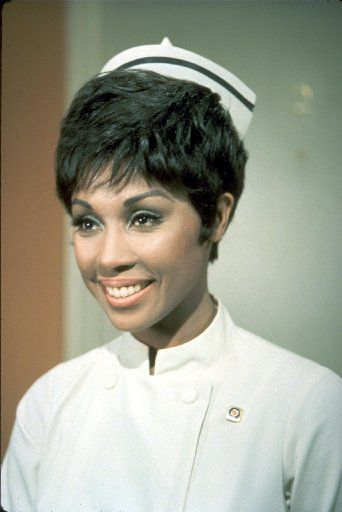 Diahann Carroll in the NBC show Julia, which  ran from 1968 to 1971.