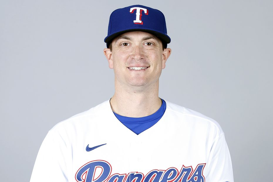 Kyle Gibson #44 of the Texas Rangers poses during Photo Day on Tuesday, February 23, 2021 at Surprise Stadium in Surprise, Arizona.  (Photo by Ben VanHouten/MLB Photos via Getty Images)