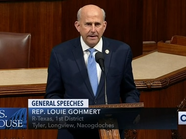 Rep. Louie Gohmert, R-Tyler, speaks on the House floor on Feb. 26, 2020, to explain his vote against a bill to make lynching a federal hate crime. The bill passed 410-4.