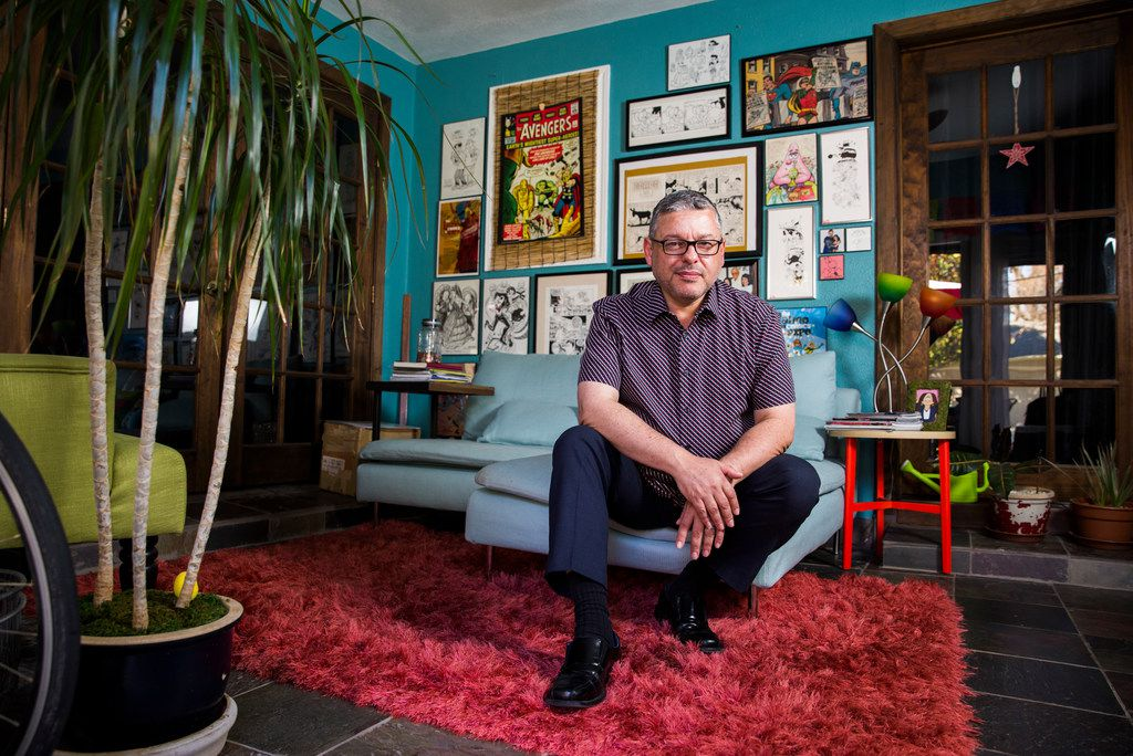 Hector Cantú, the co-creator of the comic strip Baldo, at his home in Richardson. (Ashley Landis/Staff Photographer)