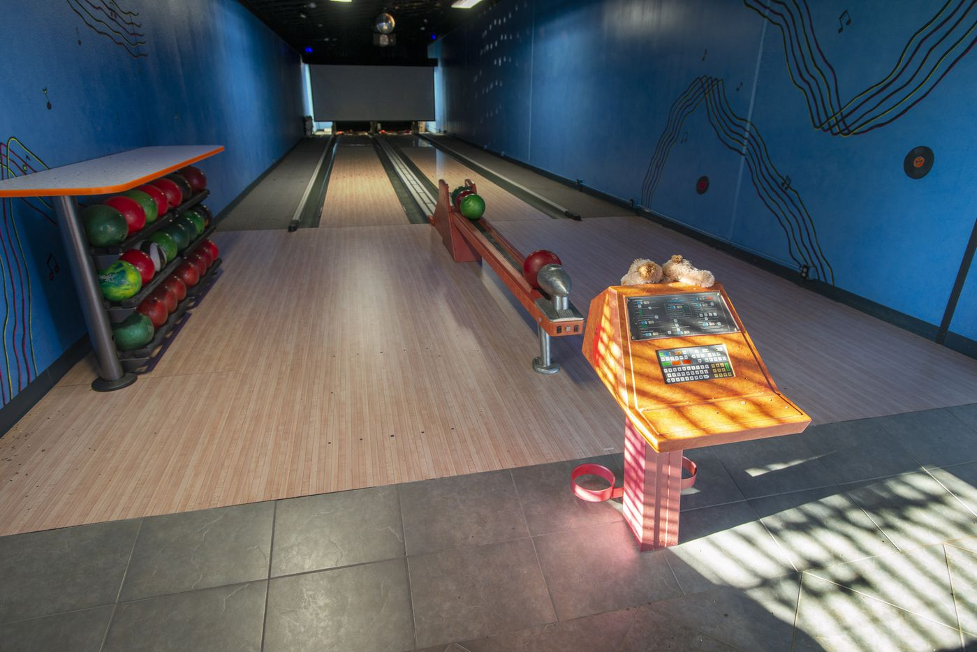 Two-lane bowling alley at 5101 Kensington Ct., in Flower Mound, Texas on August 19, 2020. (Robert W. Hart/Special Contributor)