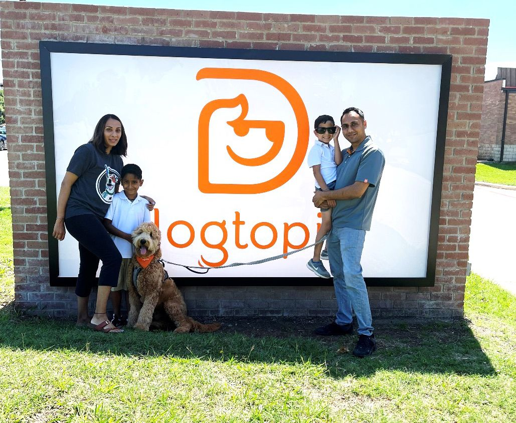 The Patel family is opening Dogtopia of Frisco at 7227 Preston Road.
