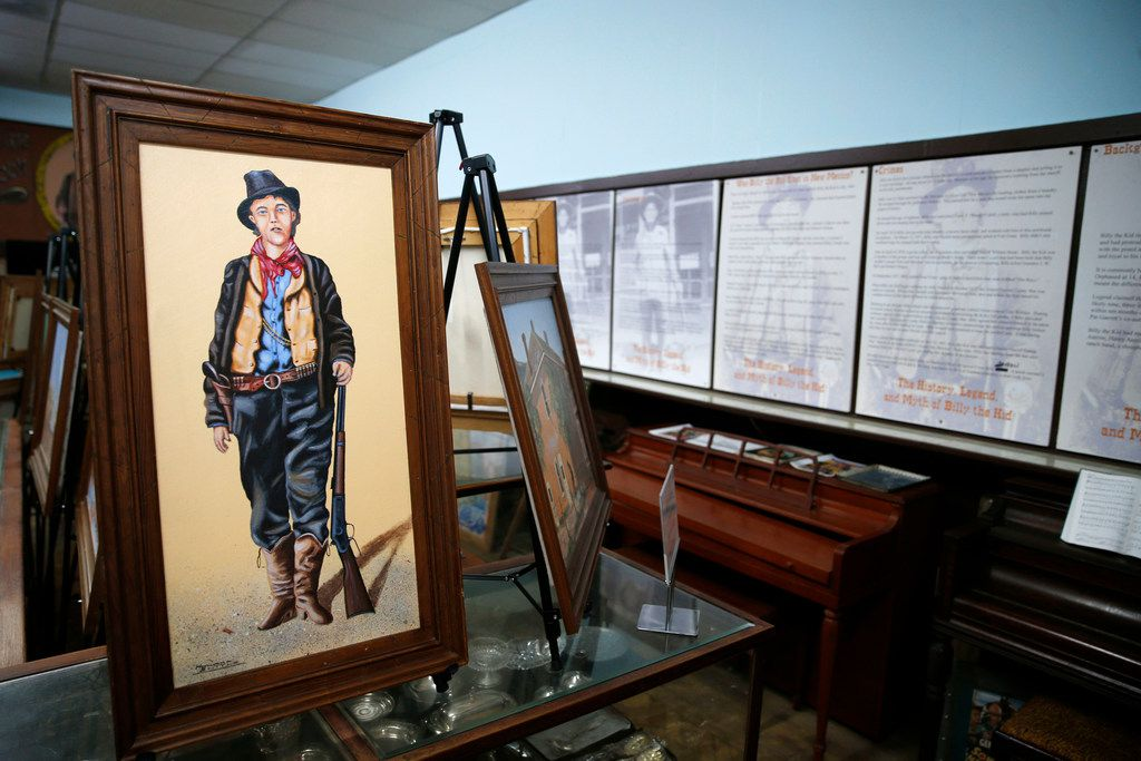 Artwork inside the Billy the Kid Museum in Hico.