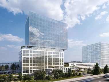 Gaedeke Group's new Plano office tower will have a cantilevered upper section.