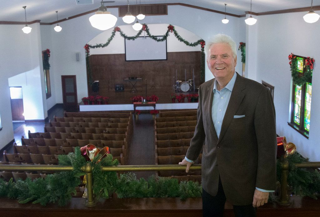 "Pastor Sam Dennis of The Church at Junius Heights inside Junius Heights Baptist Church, the place his congregation meets, on Dec. 20, 2018. ""A community ought to be better because that church is there,"" Dennis said."
