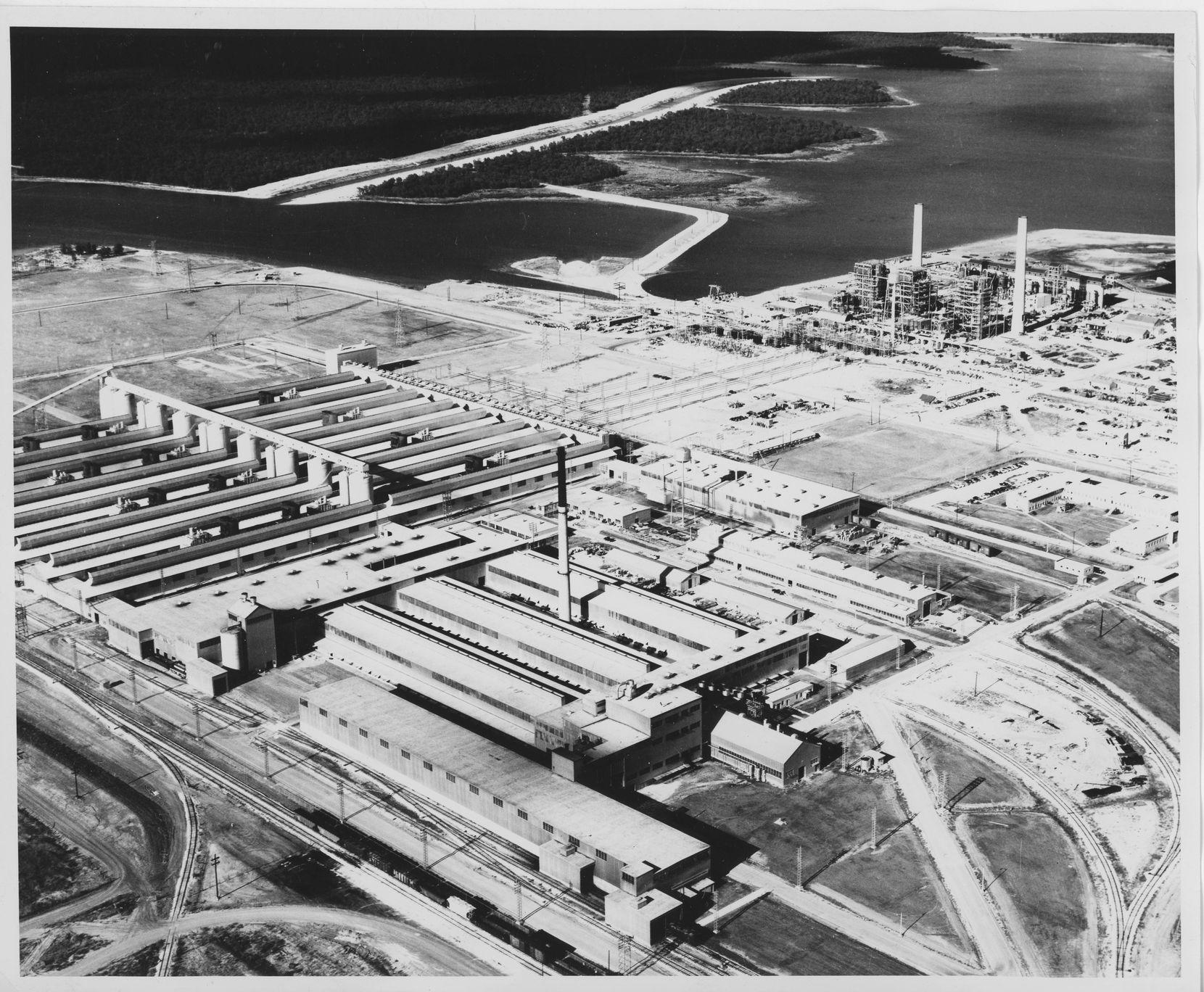 DMN file photo of the Alcoa Rockdale aluminum plant from November 1952
