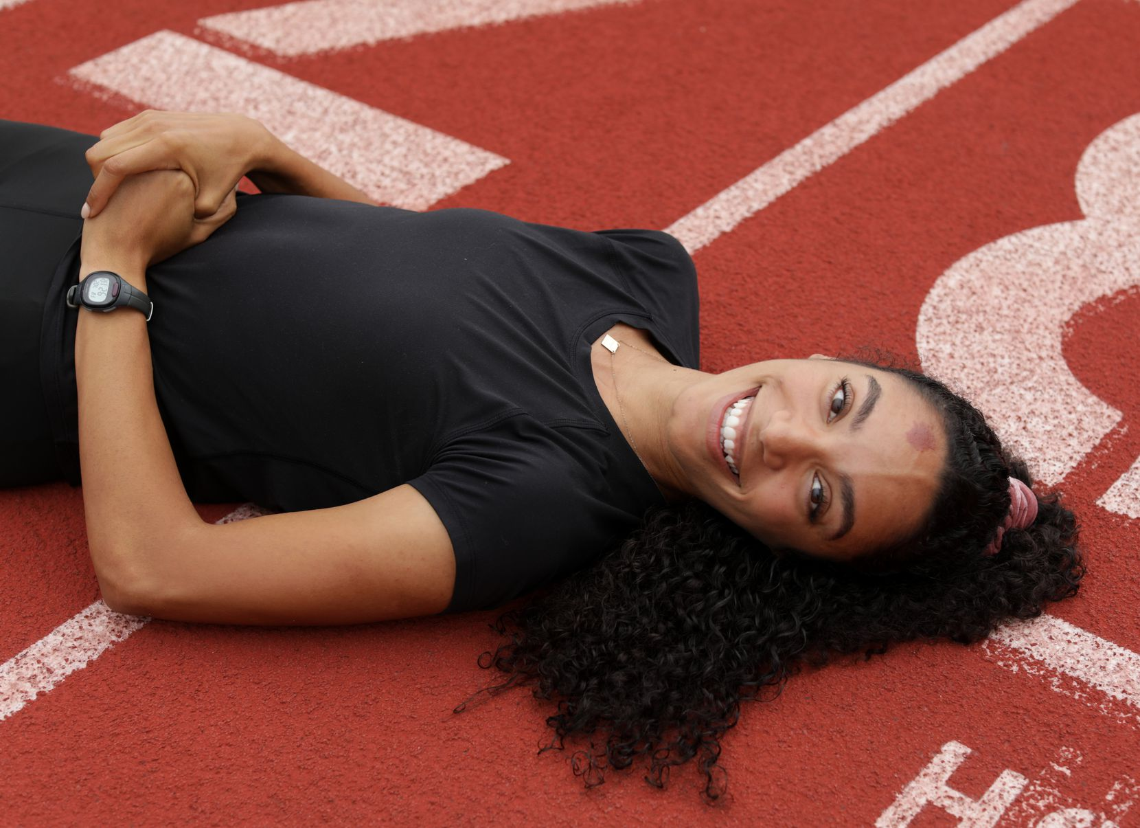 Melissa Gonzalez poses for a photograph at Standridge Stadium in Carrollton, TX, on Jul. 2, 2021.  (Jason Janik/Special Contributor)