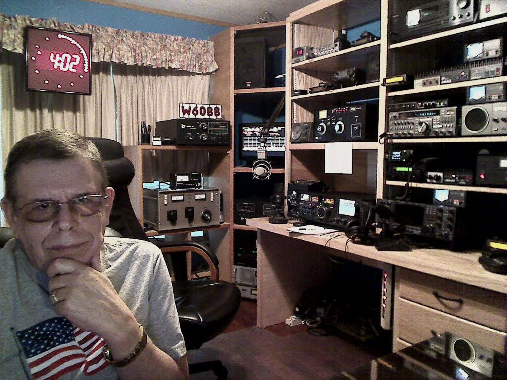 This publicity image released by SiriusXM shows Art Bell his home studio in Pahrump, Nev.