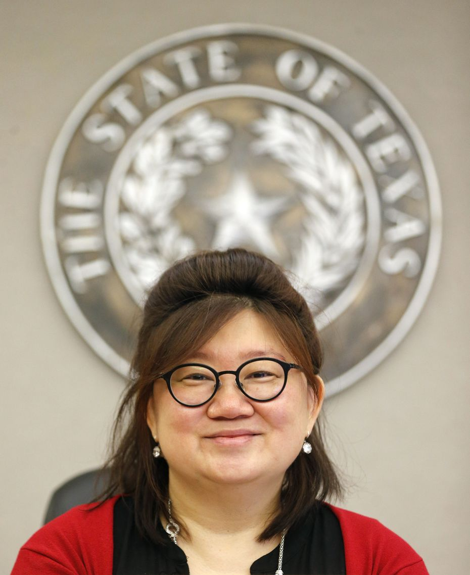 Judge Tina Yoo Clinton at Frank Crowley Courts Building in Dallas on Tuesday, July 9, 2019. (Vernon Bryant/The Dallas Morning News)