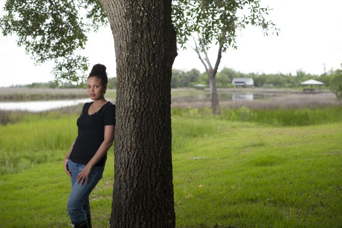Jesmyn Ward, where she grew up and where her memoir is set, in DeLisle, Miss., May 15, 2013.
