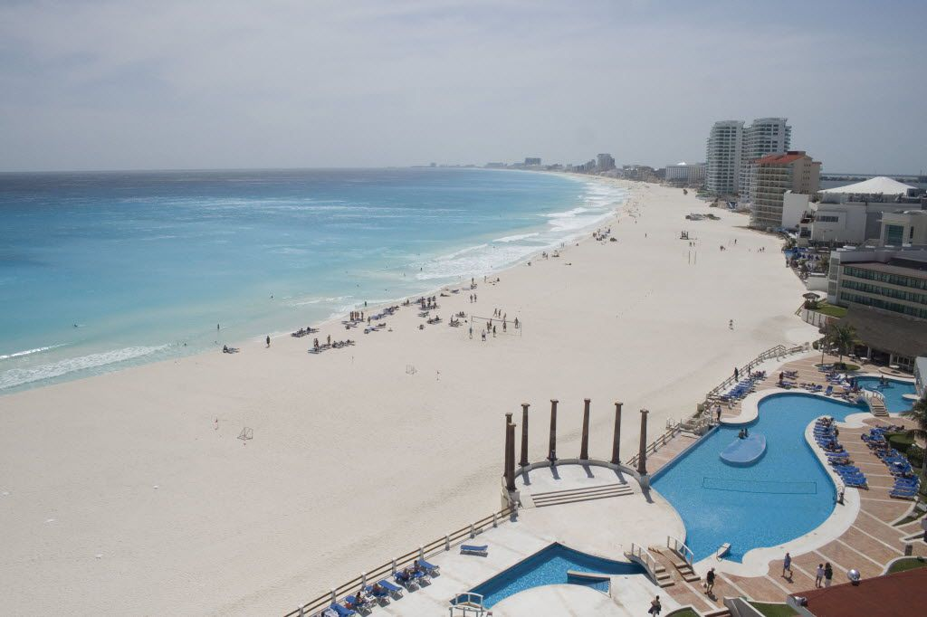 The Gaviota Azul beach in Cancun, Mexico