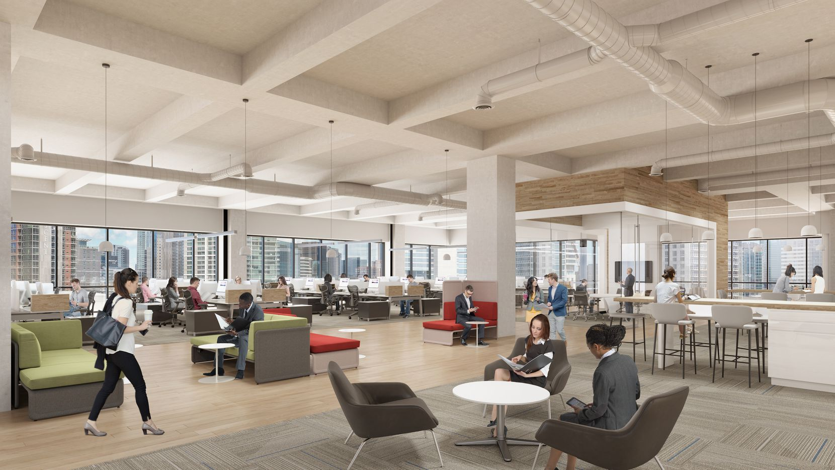 The office floors in Victory Commons are more than 30,000 square feet each.