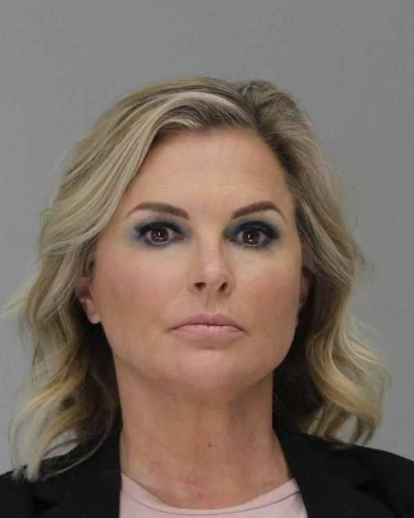 Shelley Luther's booking photo at the Dallas County Jail on Tuesday