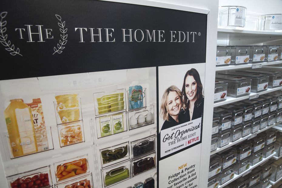 The new collection of organizer bins designed by The Home Edit is shown at The Container Store in Far North Dallas. The popular organizing duo behind The Home Edit, Joanna Teplin and Clea Shearer, have a show on Netflix.