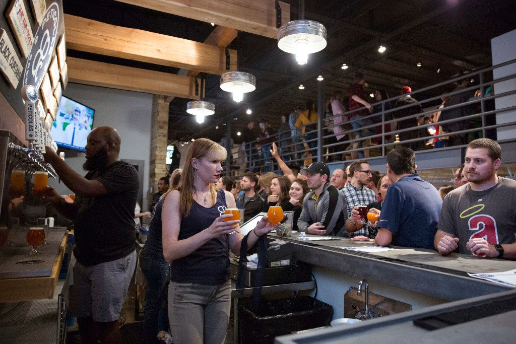 Peticolas Brewing Company opened the doors to the taproom in Dallas, Texas, on Thursday, January 12, 2017.
