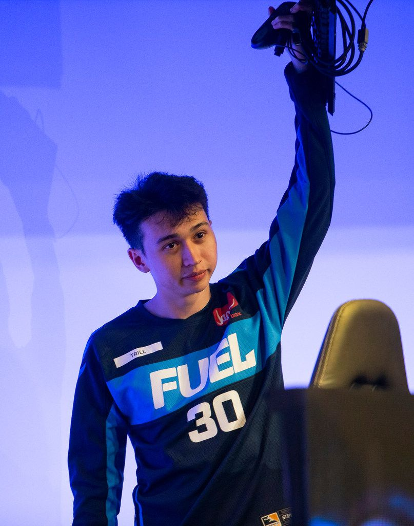 Ash 'Trill' Powell of the Dallas Fuel The Dallas Fuel plays against the San Francisco Shock on Feb. 9, 2020 at the Esports Stadium in Arlington. The Fuel lost 3-1. (Juan Figueroa/ The Dallas Morning News)