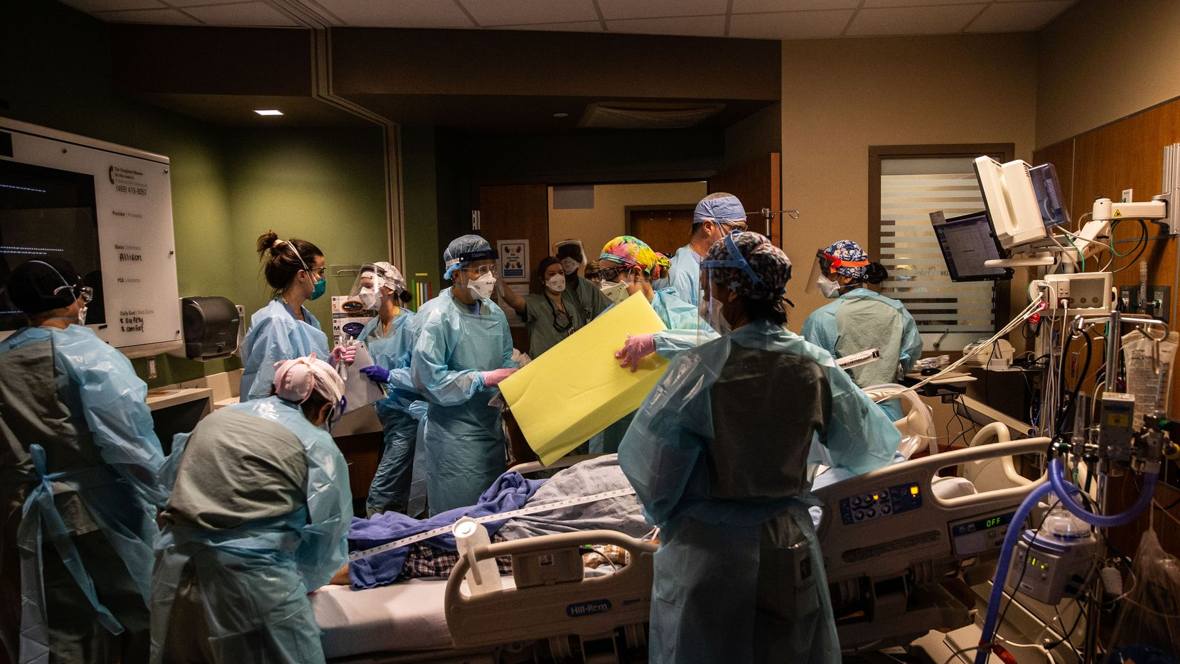 Over a dozen medical workers had to quickly mobilize to intubate a patient with COVID-19 at Parkland Memorial Hospital in early December. The pandemic has taken a great toll in lost lives and disrupted livelihoods, but it's also led to more collaboration and innovation, experts said.