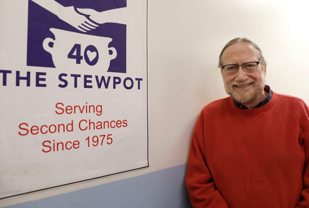 Rev. Bruce Buchanan, executive director of the Stewpot of First Presbyterian Church in Dallas poses for a portrait at the Stewpot on Dec. 6. Buchanan will retire at the end of the year after a 30-year career.
