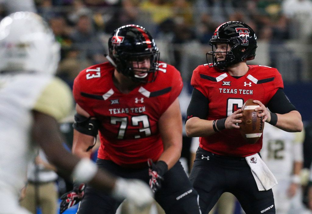 FILE - Texas Tech quarterback McLane Carter (6) looks to throw during the second half of a matchup against Baylor on Saturday, Nov. 24, 2018 at AT&T Stadium in Arlington. (Ryan Michalesko/The Dallas Morning News)