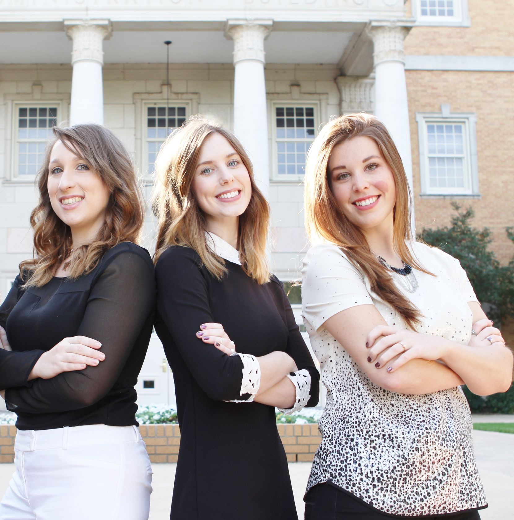 University of North Texas 2016 graduates with majors in merchandising and digital retailing students Katelyn Patrick, Nichole Fallis and Mckenzie Hibler.Courtesy photo University of North Texas
