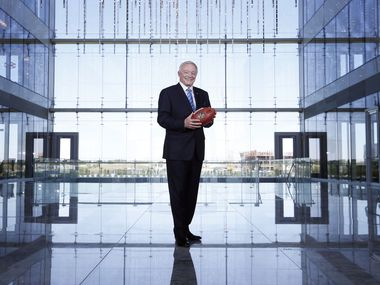Dallas Cowboys owner and general manager Jerry Jones poses for a portrait at The Star in Frisco, Texas in May 7, 2017. The Cowboys moved their headquarters to Frisco from the former Valley Ranch location in Irving, Texas. The Star, a partnership between the City of Frisco and the Dallas Cowboys, includes the team headquarters and training facility, a hotel, retail and restaurant space.