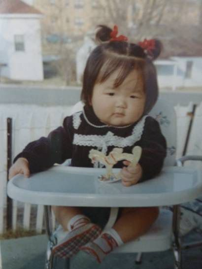 "Anne Chow, shown as a baby, recalls: ""We had a very simple, suburban, immigrant upbringing in that we didn't have a lot of money."""
