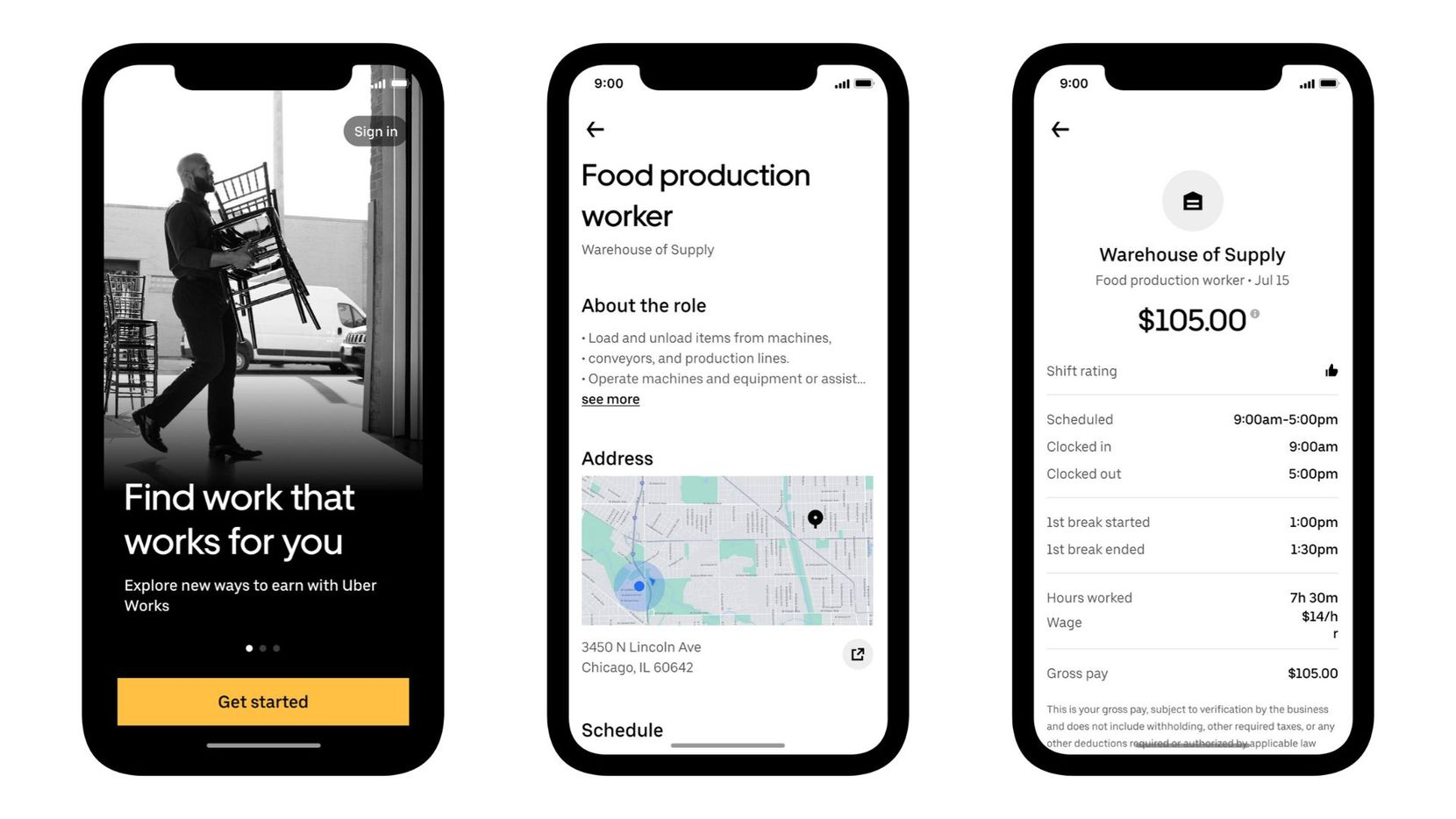 Uber Works launches in Dallas Tuesday. The new app from Uber matches people looking for work with businesses offering shifts. Uber Works already launched in Chicago and Miami late last year.