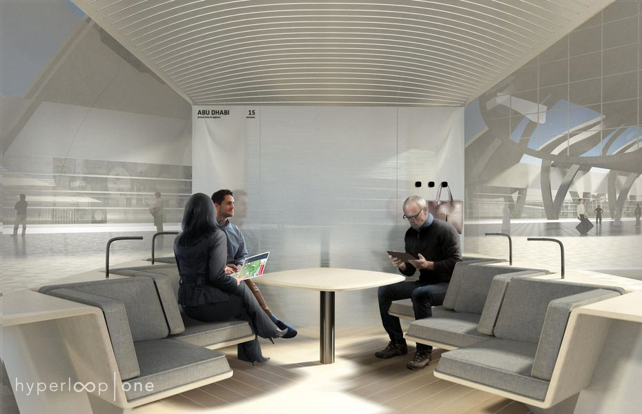 Here's a conceptual rendering of what the interior of a Hyperloop pod could look like. For people, the sensation would be similar to flying, Steven Duong said. (Hyperloop One)