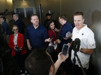 Dallas Cowboys special teams coach John Fassel answers questions from the media at The Dallas Cowboys headquarters at The Star in Frisco on Monday, January 27, 2020.