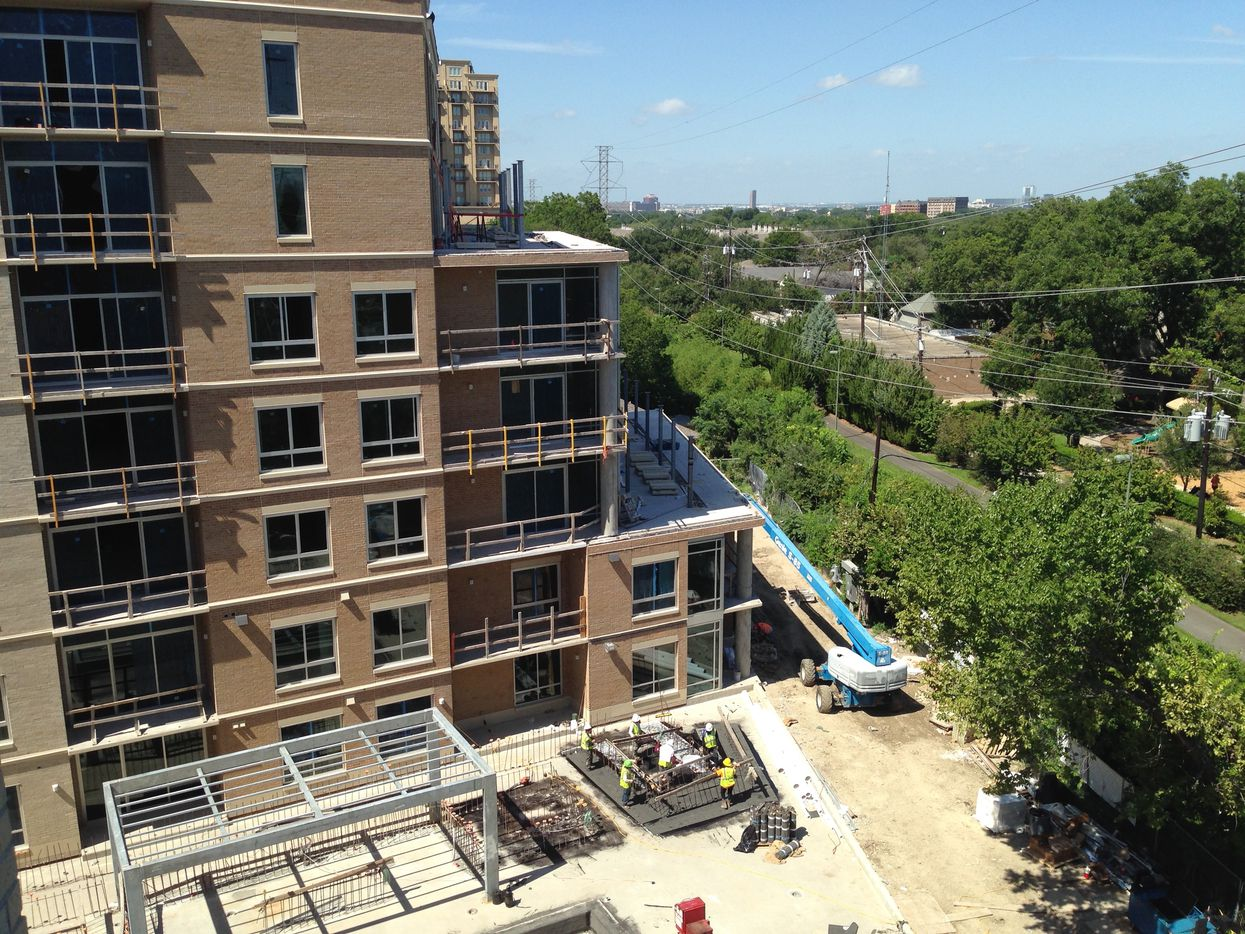 The 8-story The Katy apartment building will have direct access to the Katy Trail.