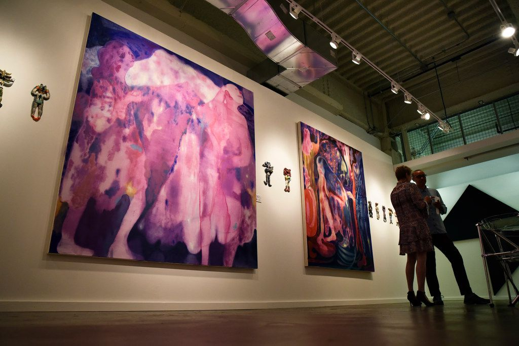 Azmira's Daughters, 2018, left, by Maja Ruznic, one of the selected pieces of artwork for the fourth annual Dallas Art Fair Foundation Acquisition Program.