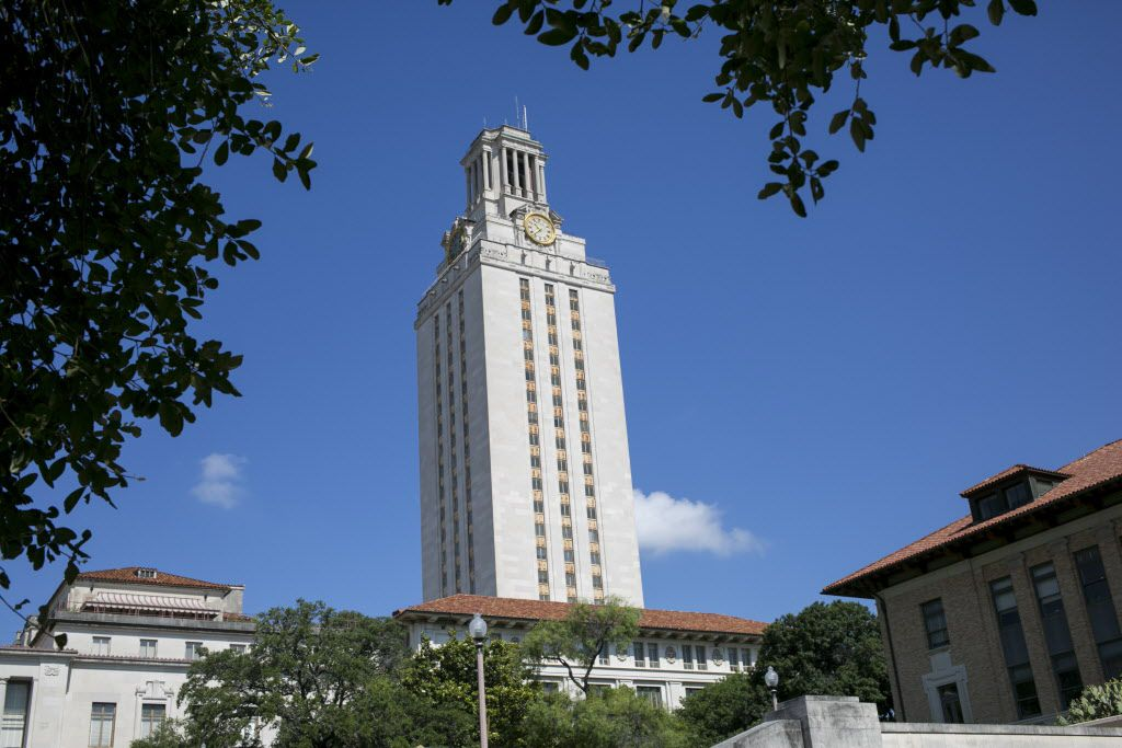 The Main Building at the University of Texas rises over the campus in Austin. (Ilana Panich-Linsman/The New York Times)