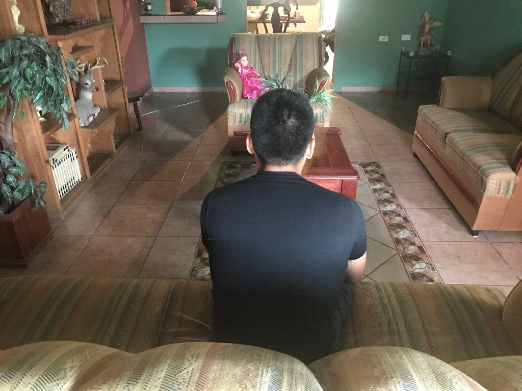 Francisco Narciso, at his home in Mexico, was kidnapped after being deported to Nuevo Laredo. He had lived near Cleveland since 2005.  (Alfredo Corchado/Staff)