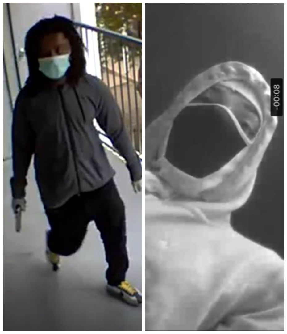 Police have released images of a person of interest in the shooting.
