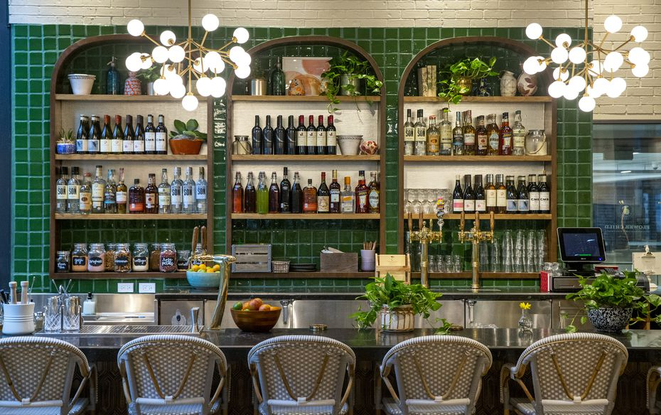 Some Flower Childs, like this one in Uptown Dallas, have a dedicated bar. Others are more food focused, like the Inwood and Lovers restaurant in Dallas.