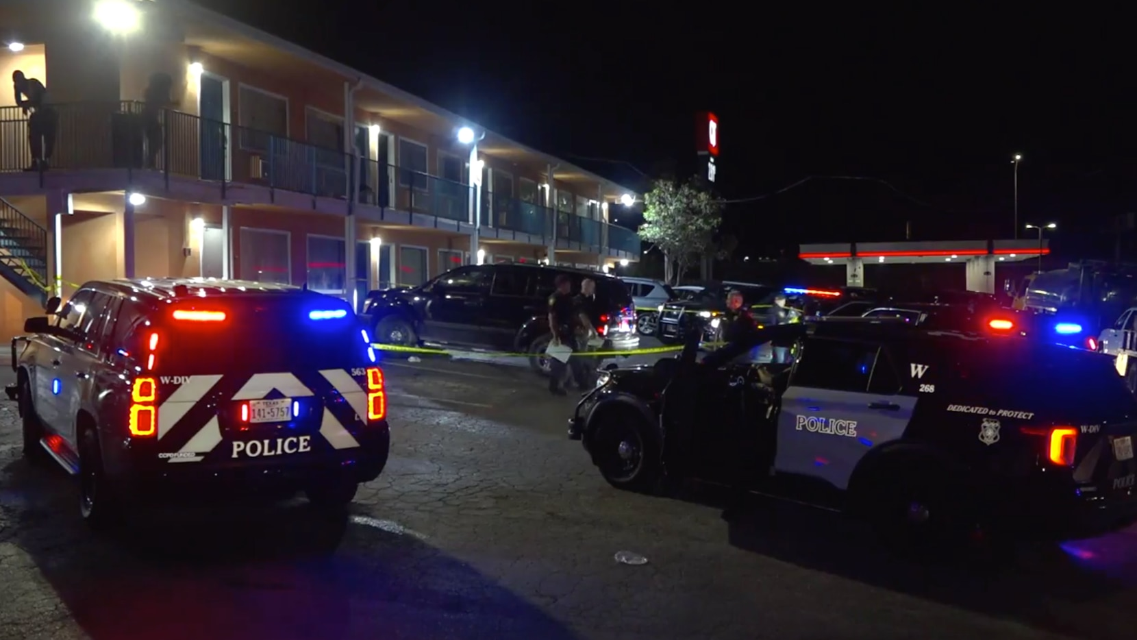 Police were called about 11:15 p.m. Sunday to the Relax Inn in Fort Worth.