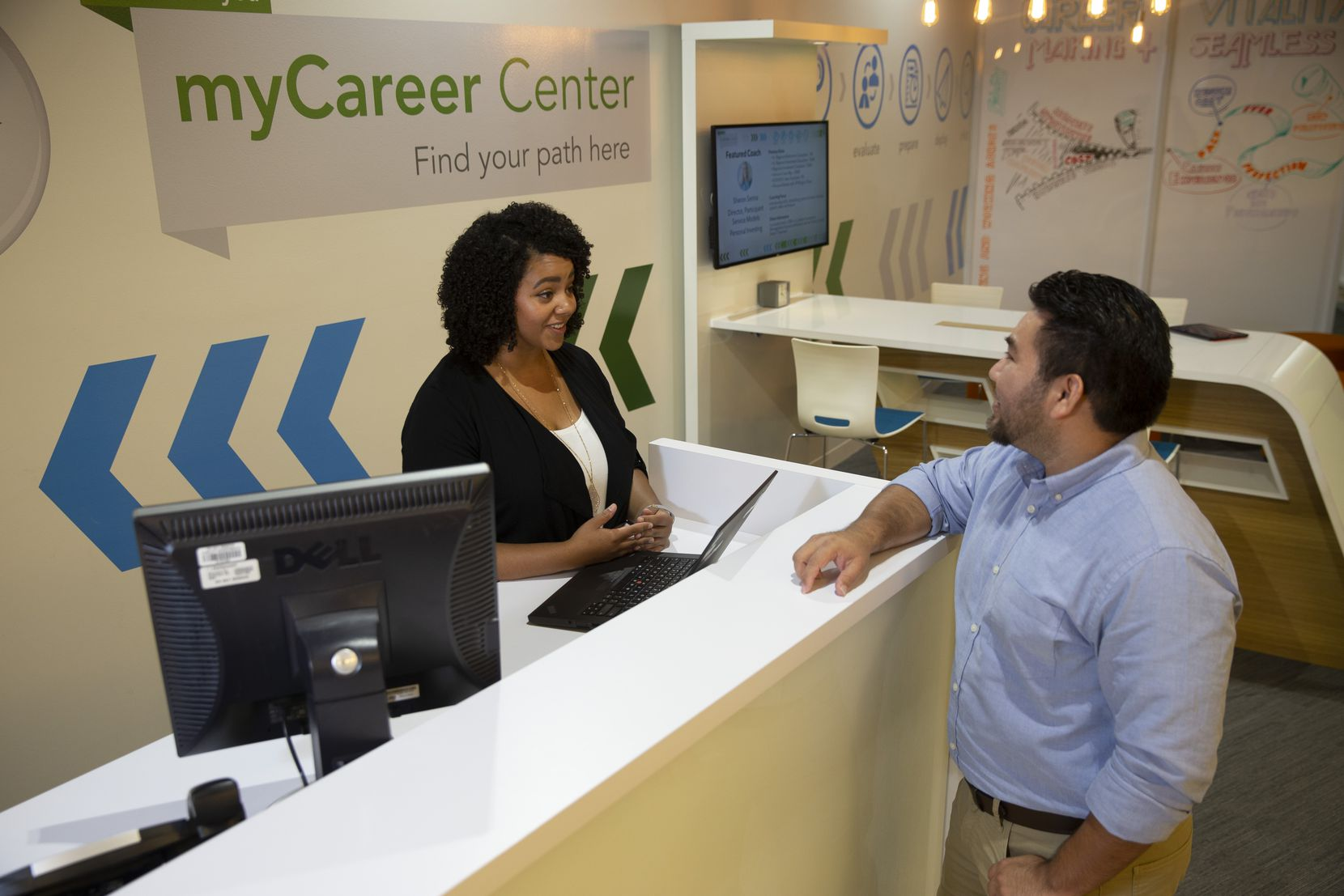 The MyCareer Center at Fidelity Investments' Westlake office.