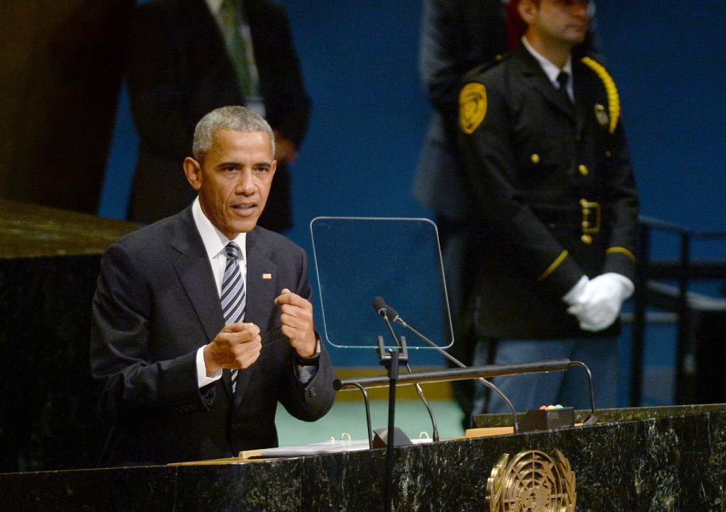 """President Barack Obama, speaking to the U.N. General Assembly on Tuesday, has insisted that updating the overtime rules is essential to """"making sure hard work is rewarded."""" (Dennis Van Tine/Abaca Press)"""