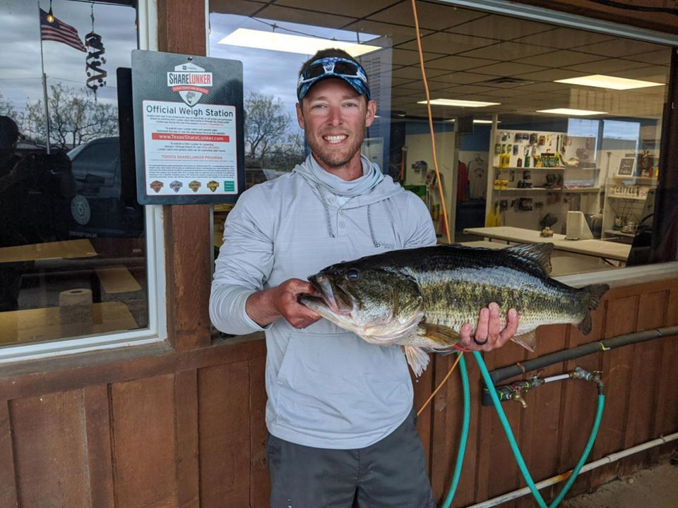 James Maupin of Cypress and his father, Kerry, have made an annual fishing trip to Lake Amistad each spring for the last 12 years. Coronavirus concerns steered the anglers to Lake O.H. Ivie this year, where they crossed paths with this 13.15-pound Legacy class lunker on March 29. TPWD fisheries biologists hope to pair the big female with a male for spawning at the Texas Freshwater Fisheries Center sometime within the next week.