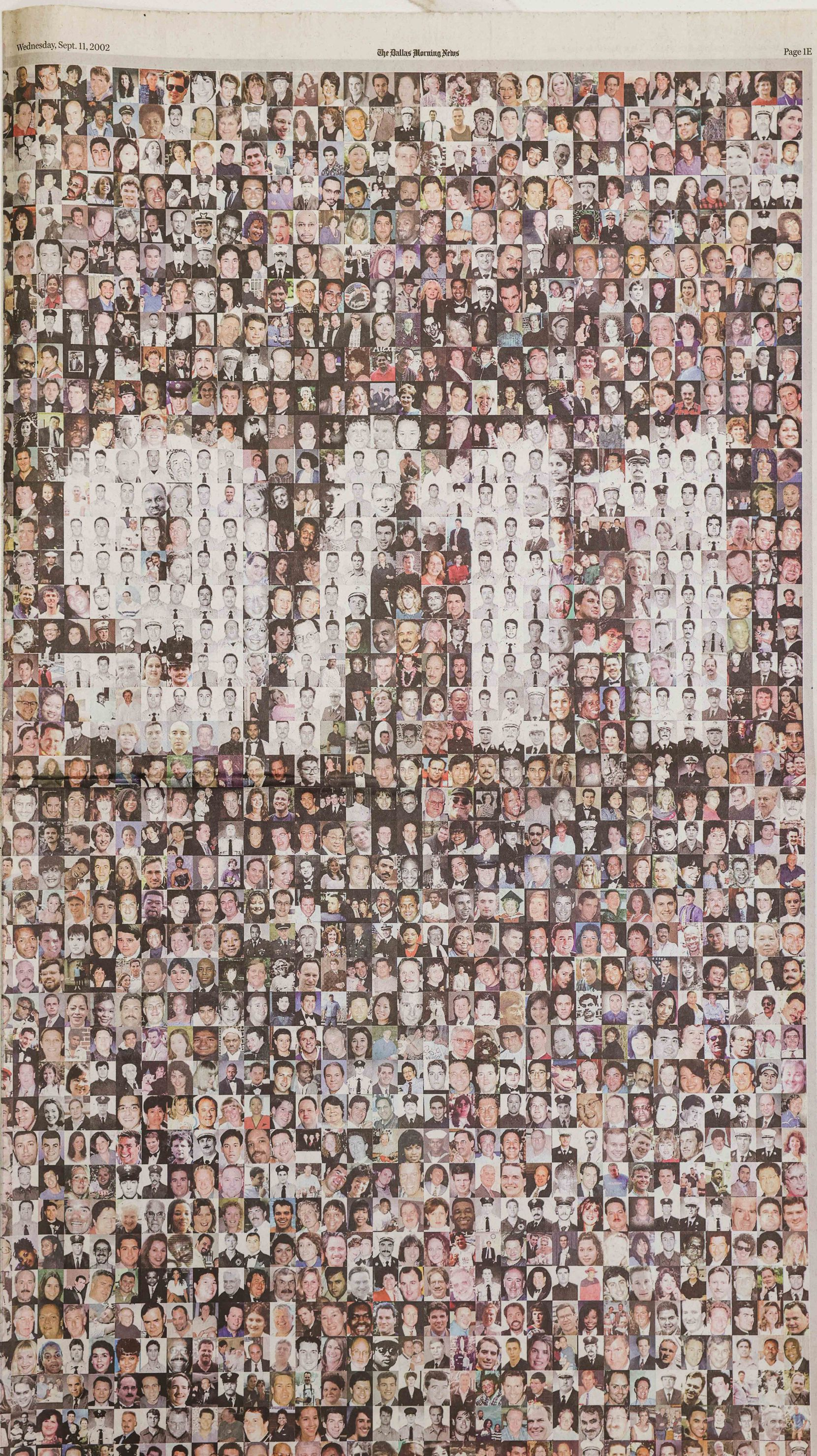 Photos of victims on the cover of the 2002 anniversary special edition.