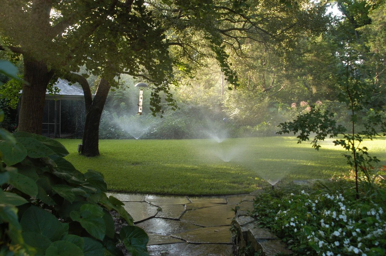 Automatic sprinkler systems should be shut off and operated manually in the winter months.