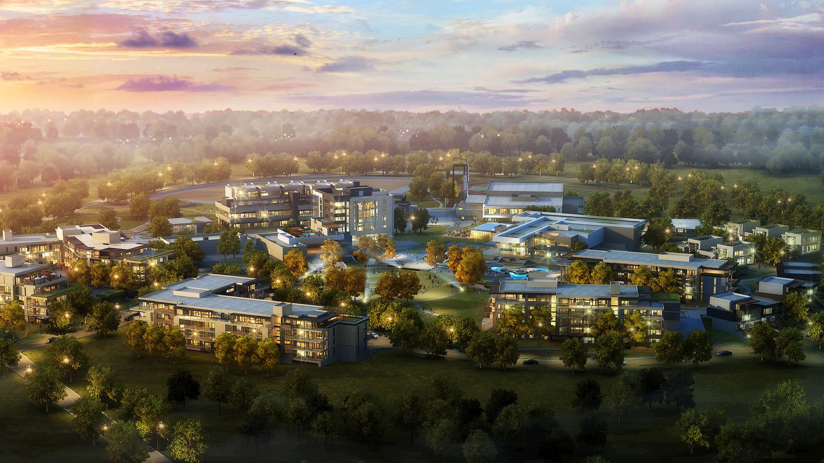 An architect's rendering shows the new mixed-use complex planned at The Village on Southwestern Boulevard.