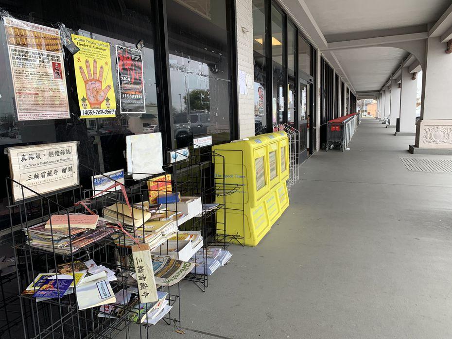 China Town, en Richardson, luce más vacío que hace algunas semanas, antes del brote del coronavirus.