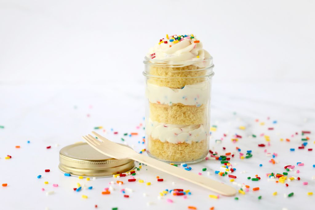 Birthday Cake in a Jar is an easy way to celebrate birthdays at home.