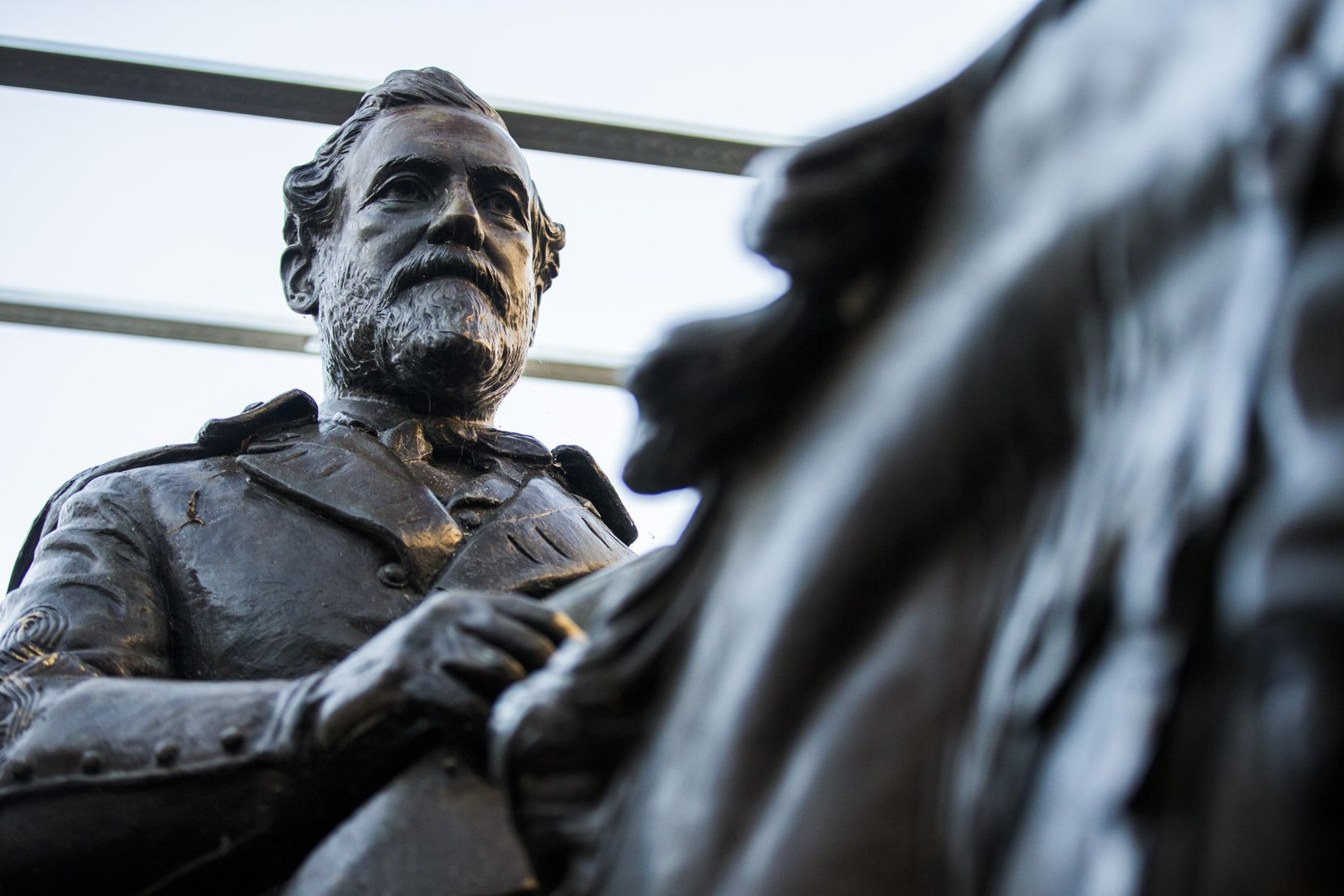 The buyer of the Lee statue for more than $1.4 million in a Dallas auction has been identified as a local law firm, but the reason for the purchase still remains unclear. (Ashley Landis/The Dallas Morning News)