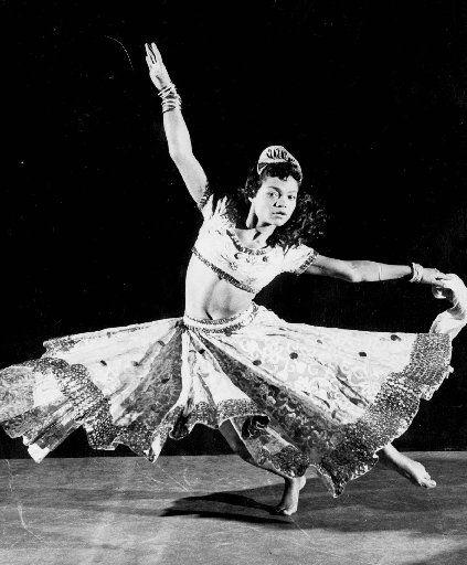 Eartha Kitt performs in a 1955 production of the Oscar Wilde play Salome.