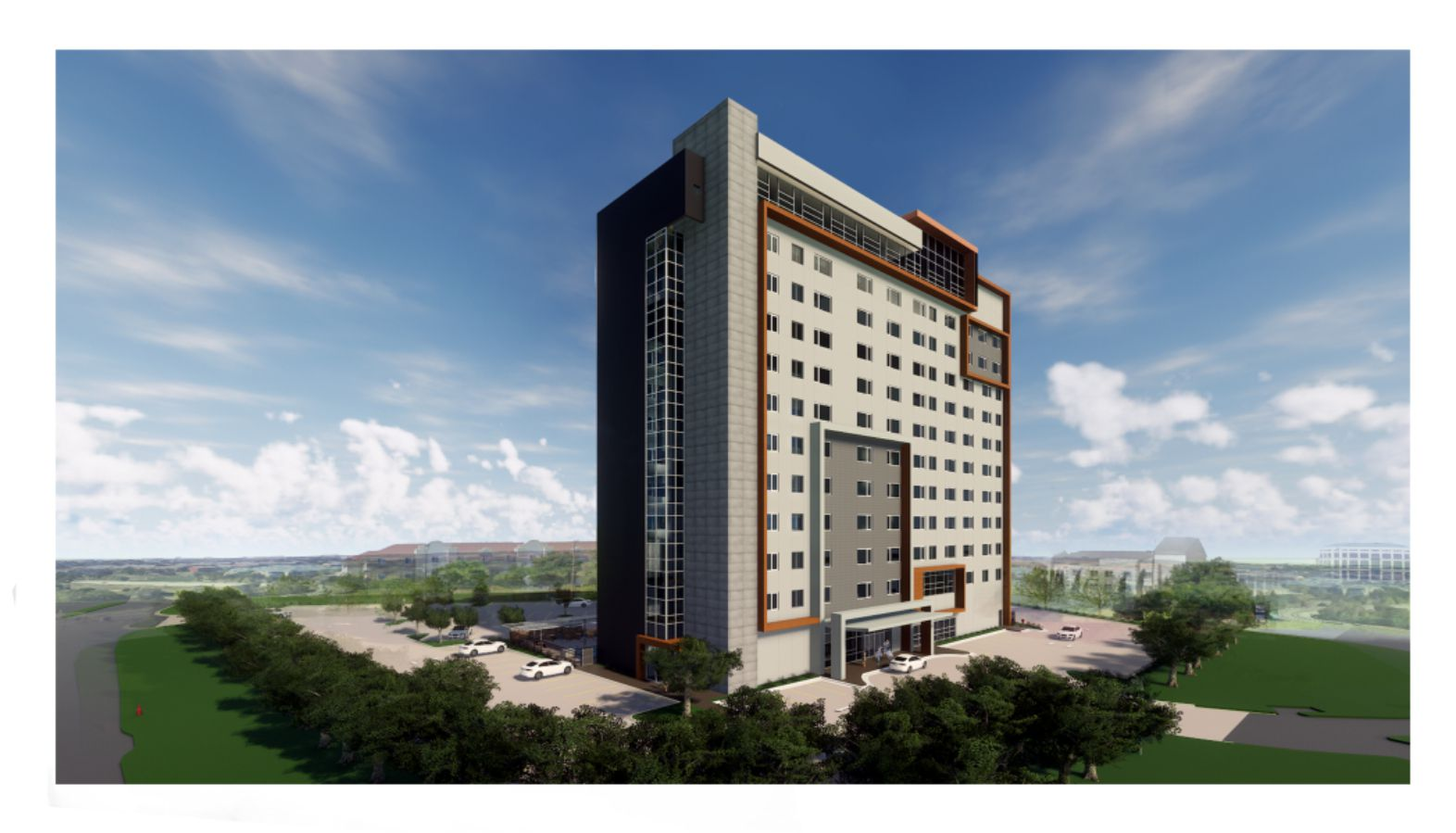 The new Element Hotel is being built on S.H. 114 in Irving.