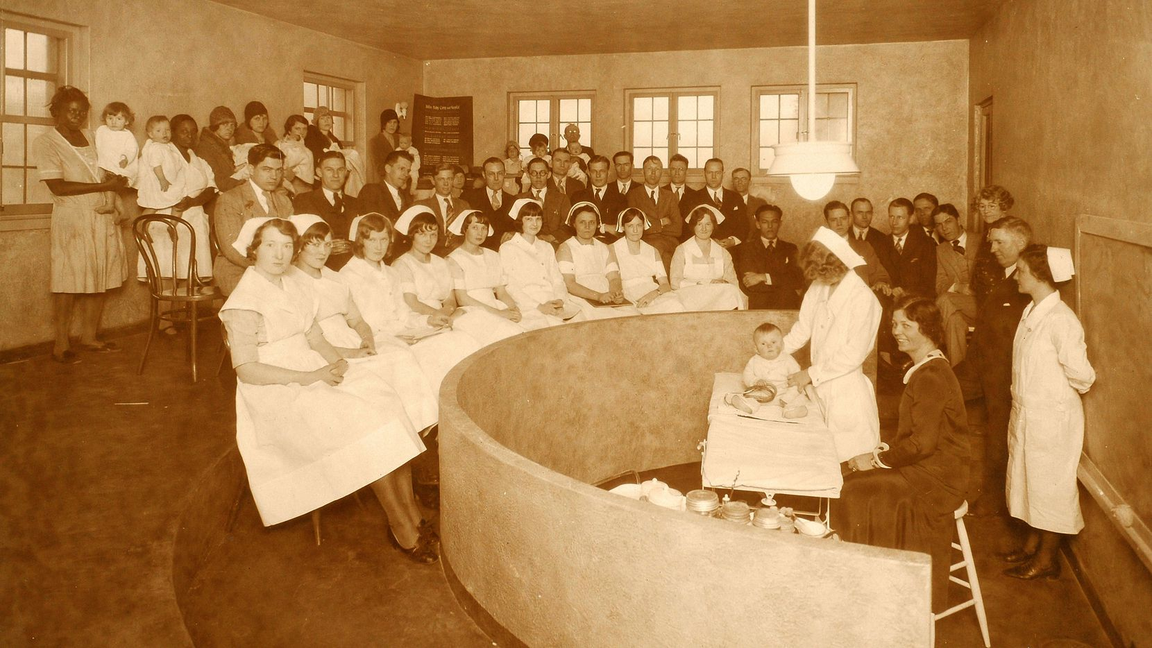 A 1930s Bradford Hospital classroom for nursing students, medical students and mothers. Photo courtesy of Children's Medical Center.