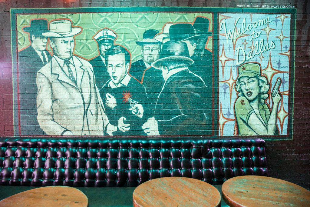 Murals on the back patio at The Elbow Room (Ashley Landis/The Dallas Morning News)